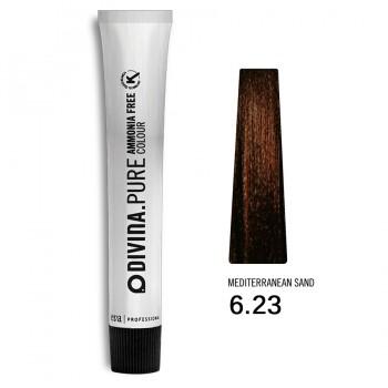 Краска для волос 6.23 Divina.Pure 60ml Темно-русый фиолетово-золотистый