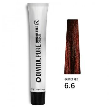 Краска для волос 6.6 Divina.Pure 60ml Темно-русый красный