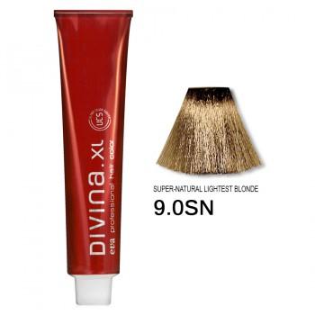 Краска для волос 9.0SN Divina. XL 120ml Темный блондин натуральный теплый