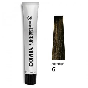 Краска для волос 6 Divina.Pure 60ml Темно-русый натуральный