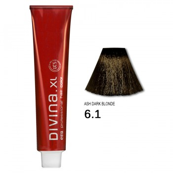 Краска для волос 6.1 Divina. XL 120ml Темно-русый пепельный