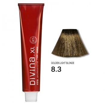 Краска для волос 8.3 Divina. XL 120ml Светло-русый золотистый