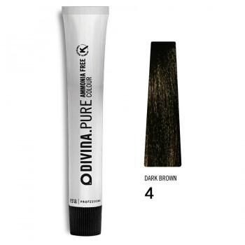 Краска для волос 4 Divina.Pure 60ml Шатен натуральный