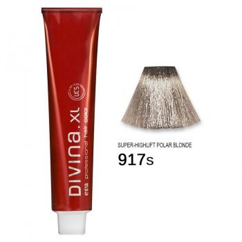 Краска для волос 917S Divina. XL 120ml Суперосветлитель серебристый