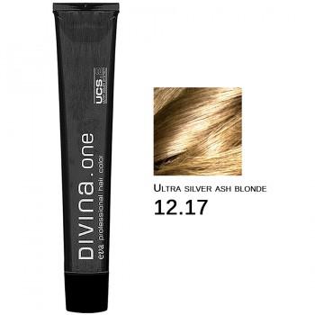 Краска для волос 12.17 Divina. one 60ml Ультра блонд серебристый