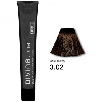 Краска для волос 3.02 Divina. one 60ml Темный шатен холодный коричневый