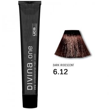 Краска для волос 6.12 Divina. one 60ml Темно-русый пепельно-фоилетовый
