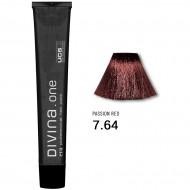 Краска для волос 7.64 Divina. one 60ml Русый красно-медный темный