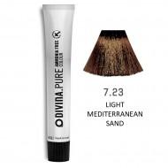 Краска для волос 7.23 Divina.Pure 60ml Русый фиолетово-золотистый