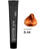 Краска для волос 6.44 Divina. one 60ml Темно-русый интенсивный медный
