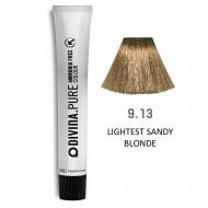 Краска для волос 9.13 Divina.Pure 60ml Темный блондин пепельно-золотистый
