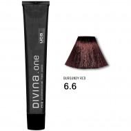 Краска для волос 6.6 Divina. one 60ml Темно-русый темно-красный