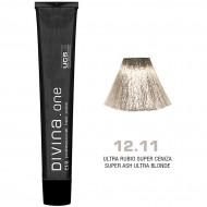 Краска для волос 12.11 Divina. one 60ml Ультра блонд итенсивный пепельный
