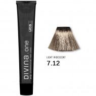 Краска для волос 7.12 Divina. one 60ml Русый пепельно-фиолетовый