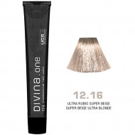 Краска для волос 12.16 Divina. one 60ml Ультра блонд пепельно-фиолетовый